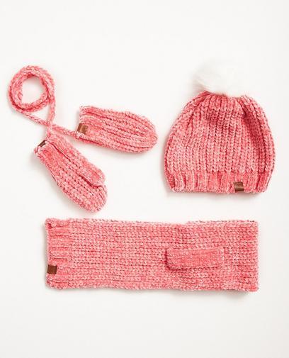 Set van sjaal, muts en wanten